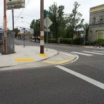 Another view of the mountable curb extension