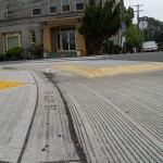 Mountable curb extensions, side view