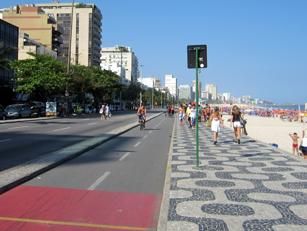 Ipanema - Rio: Car-Free Sundays and the Bicycle Track